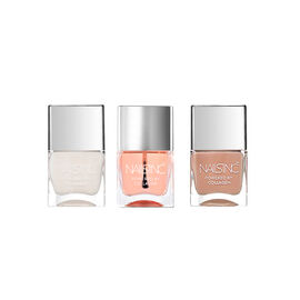 Nails Inc: Ridge Filler powered by Collagen - 14ml, Montpelier Walk Collagen Nude - 14ml & Caviar To
