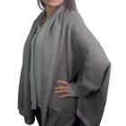 Kris Ana Coloured Border Cardigan One Size - Dark Grey