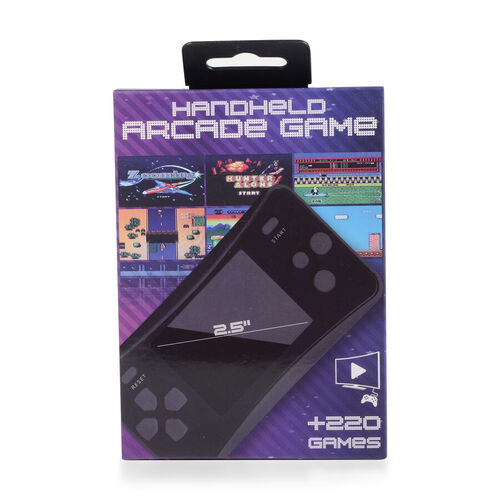 AQUARIUS Handheld Electronic Arcade Retro 220 Classic Games - Black