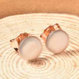 LucyQ Smartie Collection - Rose Gold Overlay Sterling Silver Stud Earrings (with Push Back)
