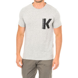 Karl Lagerfeld Mens Logo T-Shirt Short Sleeve in Grey Melange