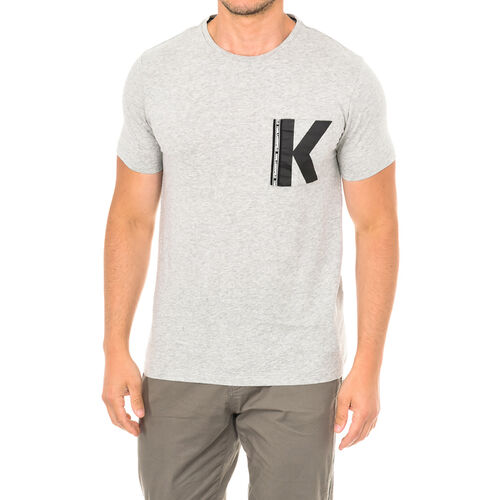 Karl Lagerfeld - Mens Logo T-Shirt Short Sleeve (Size M) - Grey Melange