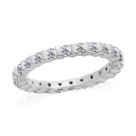 RHAPSODY 950 Platinum IGI Certified Diamond (Rnd) (VS/E-F) Full Eternity Band Ring 1.000 Ct.