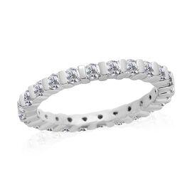 RHAPSODY 950 Platinum IGI Certified Diamond (Rnd) (VS/E-F) Full Eternity Band Ring 1.000 Ct.