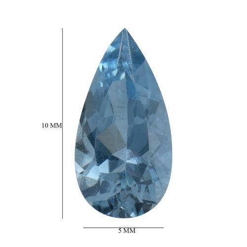 AAA Aquamarine Pear 10x5 Faceted 0.81 Cts