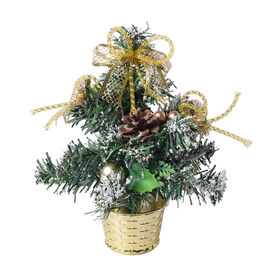Mini Christmas Tree with Golden Bowknot (Size 23x6cm)
