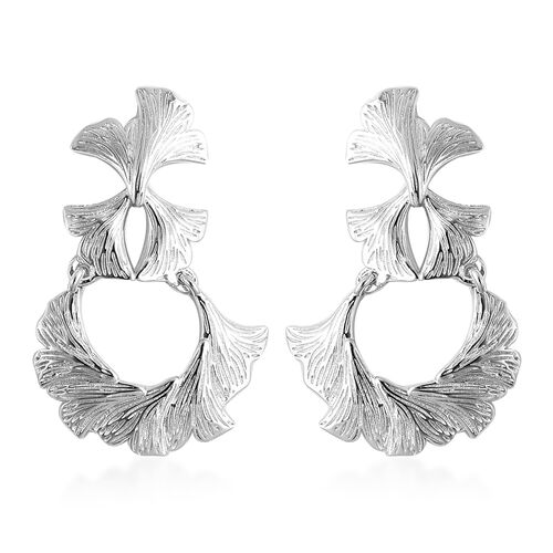 Isabella Liu Ginkgo Collection - Rhodium Overlay Sterling Silver Earrings (with Push Back)
