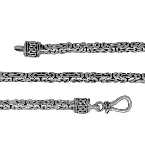One Time Deal-Royal Bali Collection Sterling Silver Borobudur Necklace (Size 30), Silver wt 50.42 Gms.