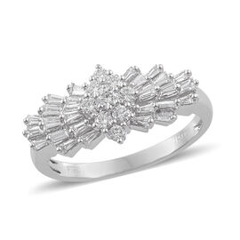 RHAPSODY 950 Platinum IGI Certified Diamond (Rnd and Bgt) (VS/F) Ballerina Ring 1.000  Ct, Platinum