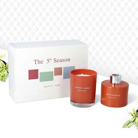 The 5th Season - Gift Box Set of Scented Candle and Diffuser - Orange