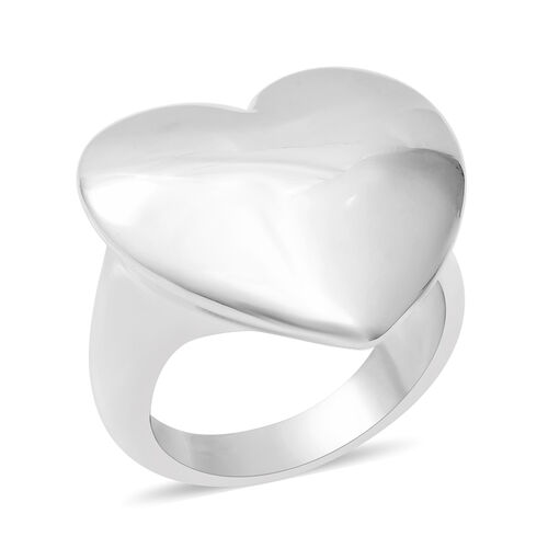 Heart Ring in Sterling Silver 5.60 Grams
