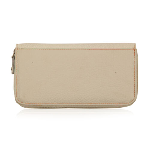 Beige Genuine Leather Wallet