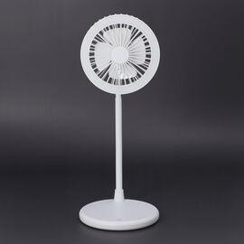 USB Desk Fan with LED Light - White