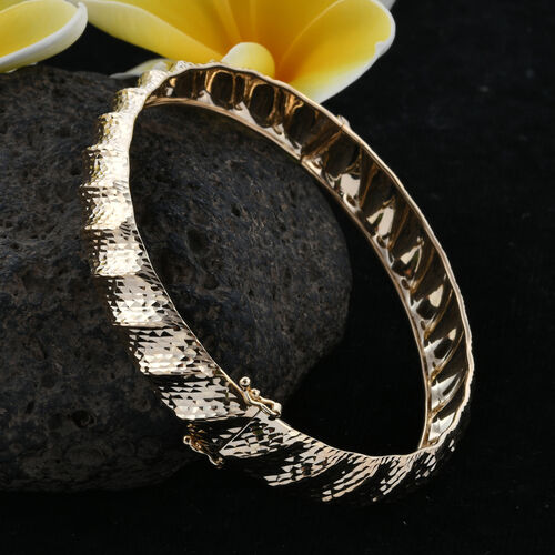 Royal Bali Collection 9K Yellow Gold Diamond Cut Bangle (Size 7.75), Gold wt 6.67 Gms.