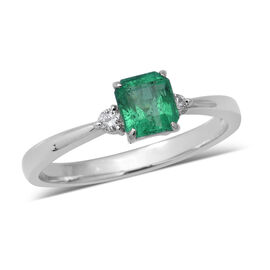 Signature Collection 0.68 Ct AAAA Boyaca Colombian Emerald and Diamond SI GH Ring in 900 Platinum 3.