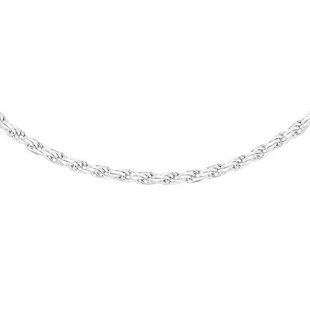Sterling Silver Diamond Cut Rope Chain (Size 16) with Lobster Clasp, Silver wt 5.20 Gms