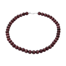 Purple Cats Eye Beads Necklace (Size 18) in Sterling Silver 296.00 Ct.