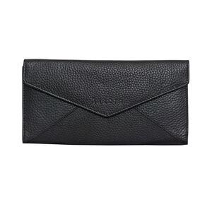 Assots London PRESTON Black Pebble Grain Trifold Leather Purse (Navigation Fashion Accessories Handbags) photo