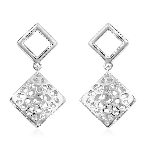 RACHEL GALLEY Sterling Silver Memento Diamond Stud Earrings (with Push Back), Silver wt 4.01 Gms.