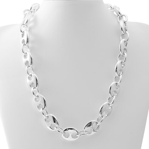 Sterling Silver Anchor Link Necklace (Size 20), Silver wt. 50.10 Gms.