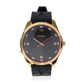 Kyboe Evolve Medallion Quartz Movement Watch in Black Colour