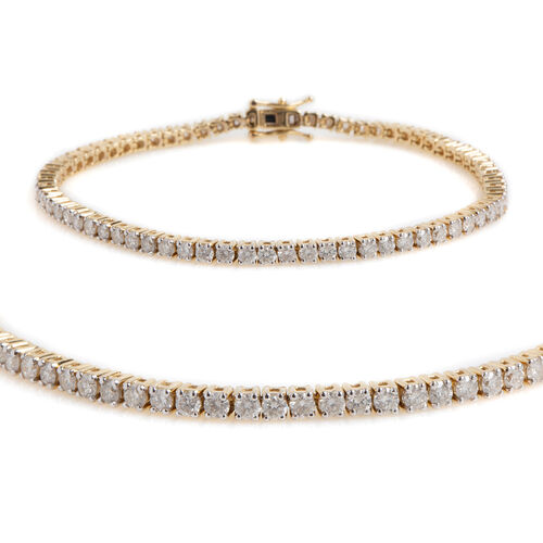 New York Close Out 4 Carat Diamond Tennis Bracelet in 14K Gold 11 Grams I2 GH Size 7.5 Inch