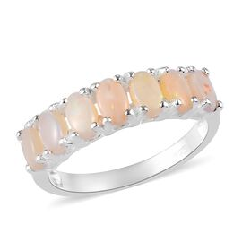 Natural Australian Opal Ring  Sterling Silver 0.75  Ct.