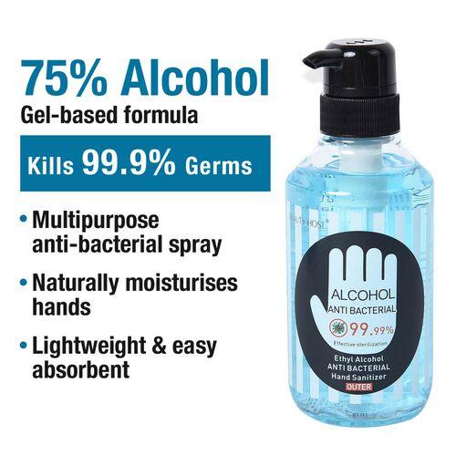75% Alcohol Antibacterial Hand Sanitiser 99.99% Disinfectant Gel - 350ml