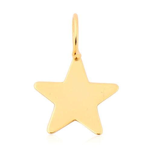 Italian Made - 9K Yellow Gold Star Pendant