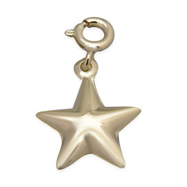 High Finish 3D Star Charm Pendant in 9K Yellow Gold