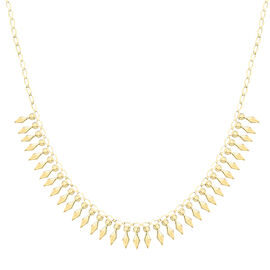Italian Made 17 Inch Cleopatra Necklace in  9K Gold 6.15 Grams