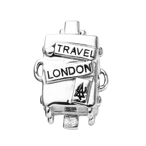 Charmes De Memoire Travel London Charm in Platinum Plated Sterling Silver 5.10 Grams