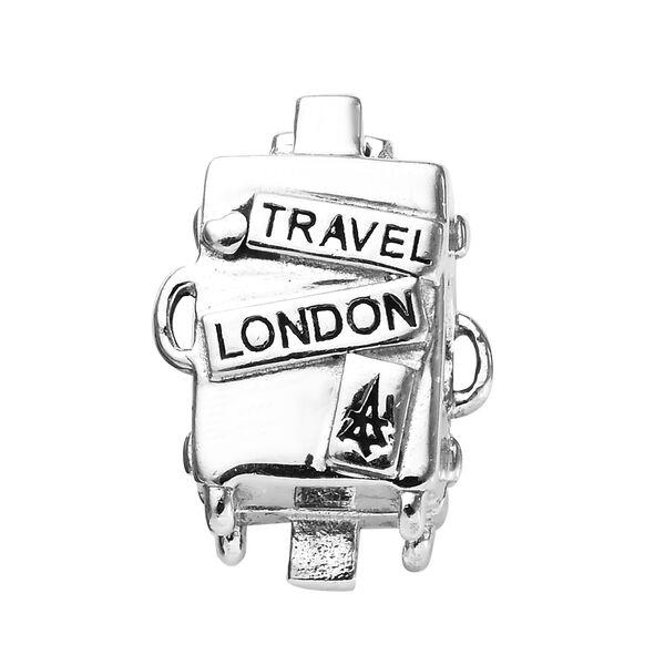 Charmes De Memoire Travel London Charm in Platinum Plated Sterling Silver 5.10 Grams