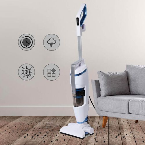 2-in-1 Steam Vacuum Cleaner (114x32x25cm) and Carpet Glider (25.65x23.54x4.18cm)