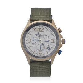 Columbia Canyon Ridge Stone Chronograph Date Olive Nylon Watch