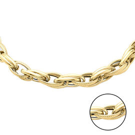 Vicenza Collection- 9K Yellow Gold Prince of Wales Chain (Size 18) with Senorita Clasp, Gold wt 12.5