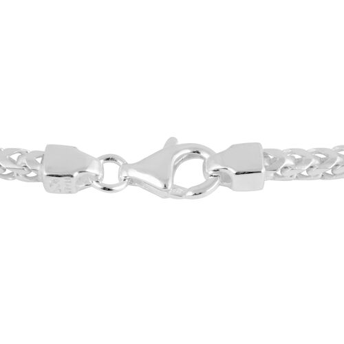 One Time Mega Deal- Italian Made Sterling Silver Franco Necklace  (Size 22), Silver wt 27.55 Gms