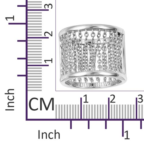 LucyQ Rain Ring in Rhodium Plated Sterling Silver 6.61 Gms