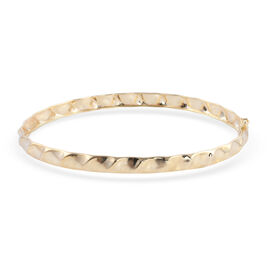 Royal Bali Collection Vicenzaoro Collection- 9K Yellow Gold Bangle (Size 7.5), Gold Wt. 3.50 Gms