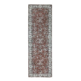(Option 1) Luxury 95% Cotton Chenille Jaquard Carpet (Size 240x80 Cm)