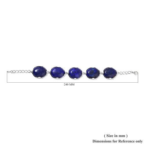 Lapis Lazuli Bracelet (Size 7.5 with 1.5 inch Extender) 365.00 Ct.