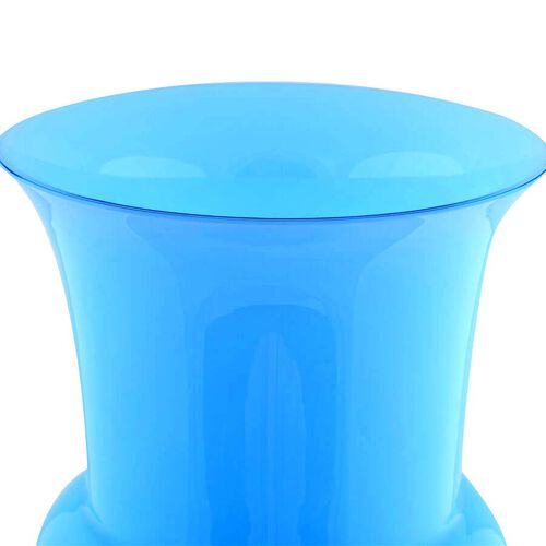 Made In Italy - Authentic Murano Glass Vase - Sky Blue