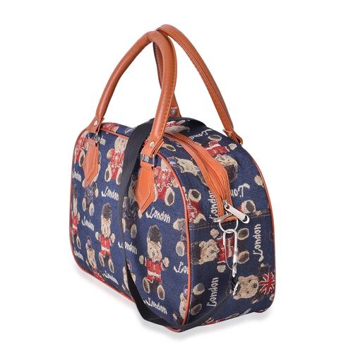 Spring Collection Bear Pattern Tote Bag with Removable Shoulder Strap (Size 35x23x14 Cm)