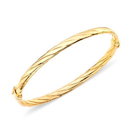 9K Yellow Gold Bangle (Size 7), Gold wt 4.40 Gram.