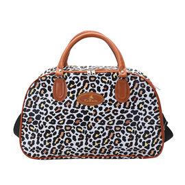 Beige tiger print Travel Bag Material (Exterior) Semi-PU (Interior) Polyester