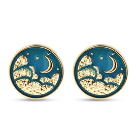 Midnight Sky Cuff Links in Gold Tone