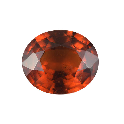 AAA Hessonite Garnet Oval 13x11 Faceted 6.78 Cts