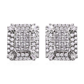 IGI CERTIFIED RHAPSODY 950 Platinum Diamond (E-F/VS) Earrings (with Screw Back) 1.00 Ct, Platinum wt