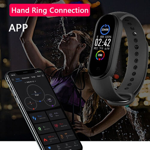 M5 Smart Watch with Silicone Strap