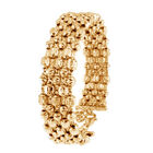 Diamond Cut Cuff Bangle in 9K Yellow Gold 12.18 Grams 7 with 1.5 inch Extender